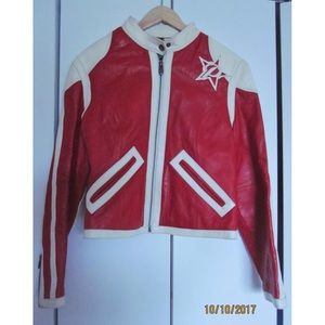Pelle Pelle Candy Red and White Leather Jacket